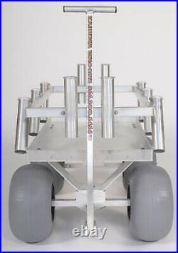 NEW! THE SIDEKICK! -World's Best Surf Fishing & Beach Cart-10 Rods-Aluminum-USA