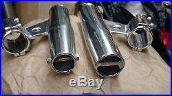 NOS OEM Lee's Tackle RA5003 Vertical Aluminum Clamp-on Rod Holders (2)