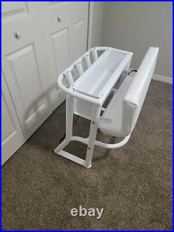 New 32 Wide Leaning Post For Center Console Fishing Boat Rod Holders Marine