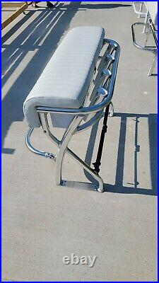 New 36 Leaning Post For Center Console Boats Aluminum Rod Holder Marine Cup
