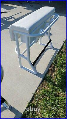 New 36 White Leaning Post For Center Console Fishing Boat Marine Rod Holders