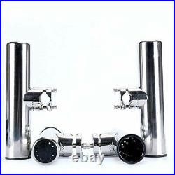NiceDD Marine Boat Fishing Rod Holder with Clamp for Rails 7/8'' to 1 Rail
