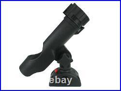 Pactrade Marine Boat 2pcs Adjustable Fishing Rod Holder 7/8-1 Rail Mount Lock