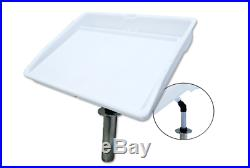 Pactrade Marine Fishing Fillet Table Bait Cutting Board Single Rod Holder Mount