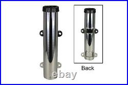 Pactrade Marine Side Mount Stainless Steel 304 Fishing Rod Holder with PVC Liner