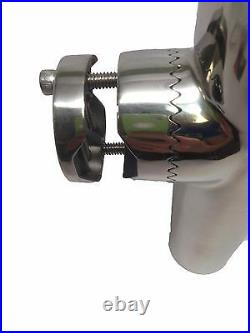 Pactrade Marine Stainless Steel 304 Tournament Style Clamp On Fishing Rod Holder