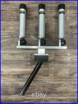 Pair Of (2) Triple Big Jon Adjustable Multi Set Rod Holders & Gimbal Mounts
