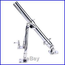Pair Stainless Steel Adjust Sidekick Base Fishing Outrigger Pole Rod Holder AA+