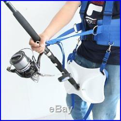 Pellor Fishing Belt 41-55 Max 35kg/77lb Boat Fishing Rod Holder Vest Adjustable