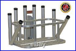 Plattinum, Aluminum Fishing Rod Holder Cooler Holder Fits Most 48-54 Qt Coolers