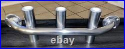 Polished Aluminum Rod Holder For Boat Truck Jon Boat Custom Made In USA