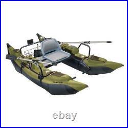Pontoon Boat Adjustable Seat Mount Fishing Rod Holder 400 lb. Capacity Green