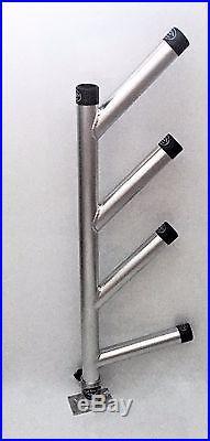 Quad Fixed Dipsy Rod Holder. Aluminum Fishing Rod Holders. High Seas Gear