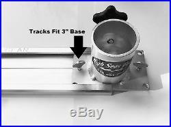 Quad Fixed Rod Holder Aluminum Tree High Seas Gear Set with bases & tracks Kit #6