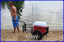 Rambo Bikes Aluminum Fishing Cart, Black, R185 Carts