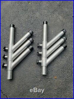 Rod Holder Adjustable Tree Triple Unit PAIR OF 2. Aluminum Fishing Holders