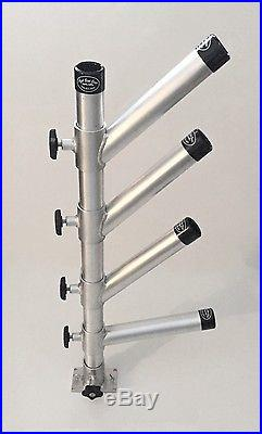 Rod Holder Tree Quad Adjustable. Fishing Dipsy Holders Rods Aluminum with Base