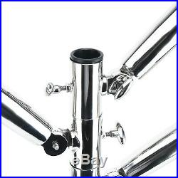 Rod Holder Tree Triple Fixed Unit Stainless Steel Fishing Rod Holders with Base