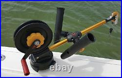 SEAHORSE Adjustable Dual Rod Holder Assembly Boom Mount for CANNON DOWNRIGGERS