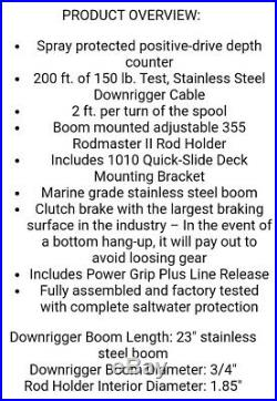 Scotty 1060DPR Depthking 23 Manual Downrigger withRod Holder-Free Shipping