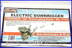 Scotty 1116 Propack 60 Telescoping Electric Downrigger with Dual Rod Holders
