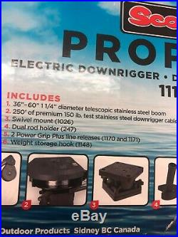 Scotty 1116 Propack 60 Telescoping Electric Downrigger with Dual Rod Holders and