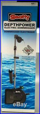 Scotty Depthpower Electric Downrigger 60 Telescoping Boom with Rod Holder 1106