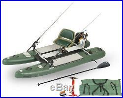 Sea Eagle SUPCat10 Watersnake Motor Pkg Swvl Seat Rod Holders Power Center More