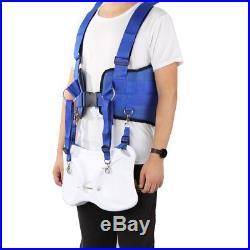 Sea Fishing Harness Vest Adjustable Stand up Fighting Belly Belt Rod Pole Holder