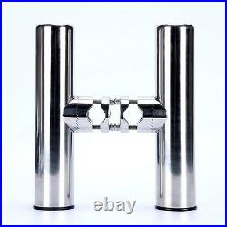 Set of 6 Stainless Clamp On Fishing Rod Holder For Rails 7/8 to 1 Rail Mount