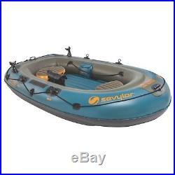 Sevylor Fish Hunter 280 4-person Fishing Boat With Berkley Rod Holder 2000020575