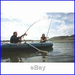 Sevylor Fish Hunter 360 6-Person Fishing Boat with Berkley Rod Holder