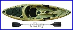 Sit On Fishing Kayak Canoe Sport Fisher Angler With Paddle Rod Holders Green