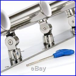 Stainless 5 Rod Holder Angle Adjustable Rod Holder Fishing Amarine made-9955SSA