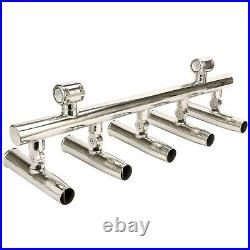 Stainless 5 Rod Holders Fishing Console Boat Rocket Launcher Adjustable