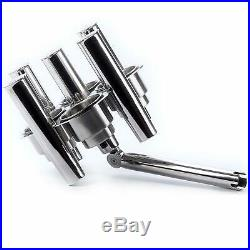 Stainless Ajustable Collector Cluster 5 Fishing Rod Holder with 4 Cup Holders US