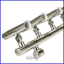 Stainless T Top 5 Rod Holders Fishing Console Boat T Top Rocket Launcher Adjust