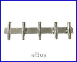 Stainless steel 5 rod holder overall length 43in