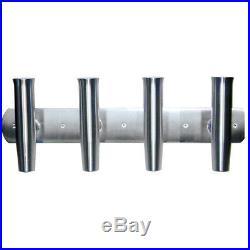 TIGRESS 88144-1 4 Rod Aluminum Transom Mount Rod Holder 28