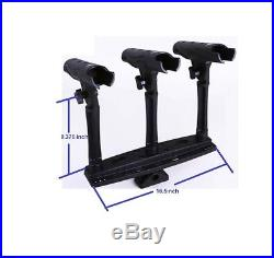 TWO Sets Triple Rod Holder (for 6 Rods!) with Extenders FREE SHIPPING