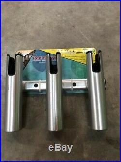 Taco Brushed Aluminum Three Rod Holder