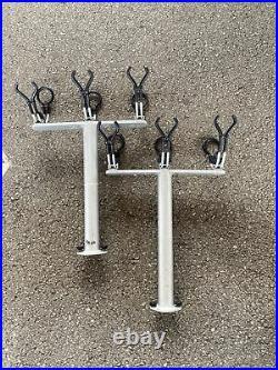 Tite lok crappie 3 pole fishing rod holder x 2