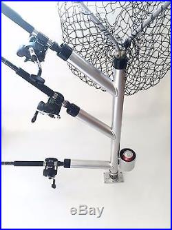 Triple Fixed Dipsy Rod Holder Tree with CUP HOLDER. Aluminum fishing rod holders