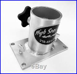 Triple Fixed Rod Holder Tree with Cup Holder. High Seas Gear base included New