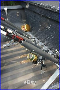 Truck Fishing Rod Holder Rack Storage for 10 Units Aluminum/Stainless