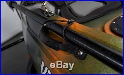 Vibe Kayaks Skipjack 90 9' Fishing Angler Kayak w Paddle 4 Rod Holders Camo
