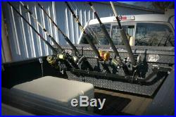 Viking Truck Bed Wall Fishing Rod Pole Holder Rack Mount Organization 6 Pole