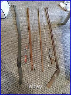 Vintage Fishing Action Rod Orchard Smooth Caster Metal Handle pole reel holder