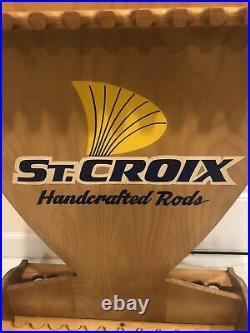Vintage St. Croix Fishing Rod Rack / Holder Display
