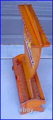 Vintage St Saint Croix Fly Fishing Rod Holder Wood Advertising Display Rack